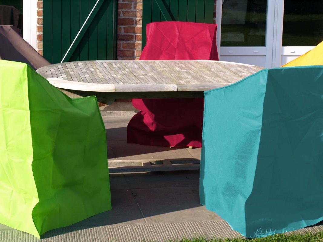 Housse de protection fuschia 4 fauteuils - Housse de protection fauteuil de jardin ...