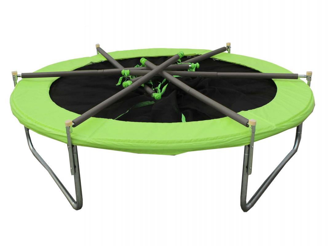 Trampoline pliable 2 44 m b che de protection soulet - Filet trampoline 244 ...