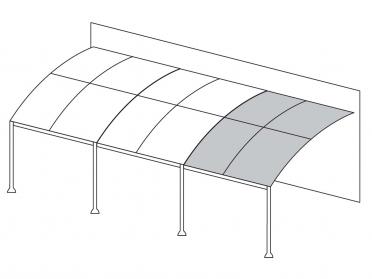 tonnelle adoss e illusion 3 m x 4 m esprit fer forg en acier. Black Bedroom Furniture Sets. Home Design Ideas