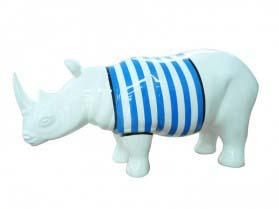 Rhinocéros marinière bleue