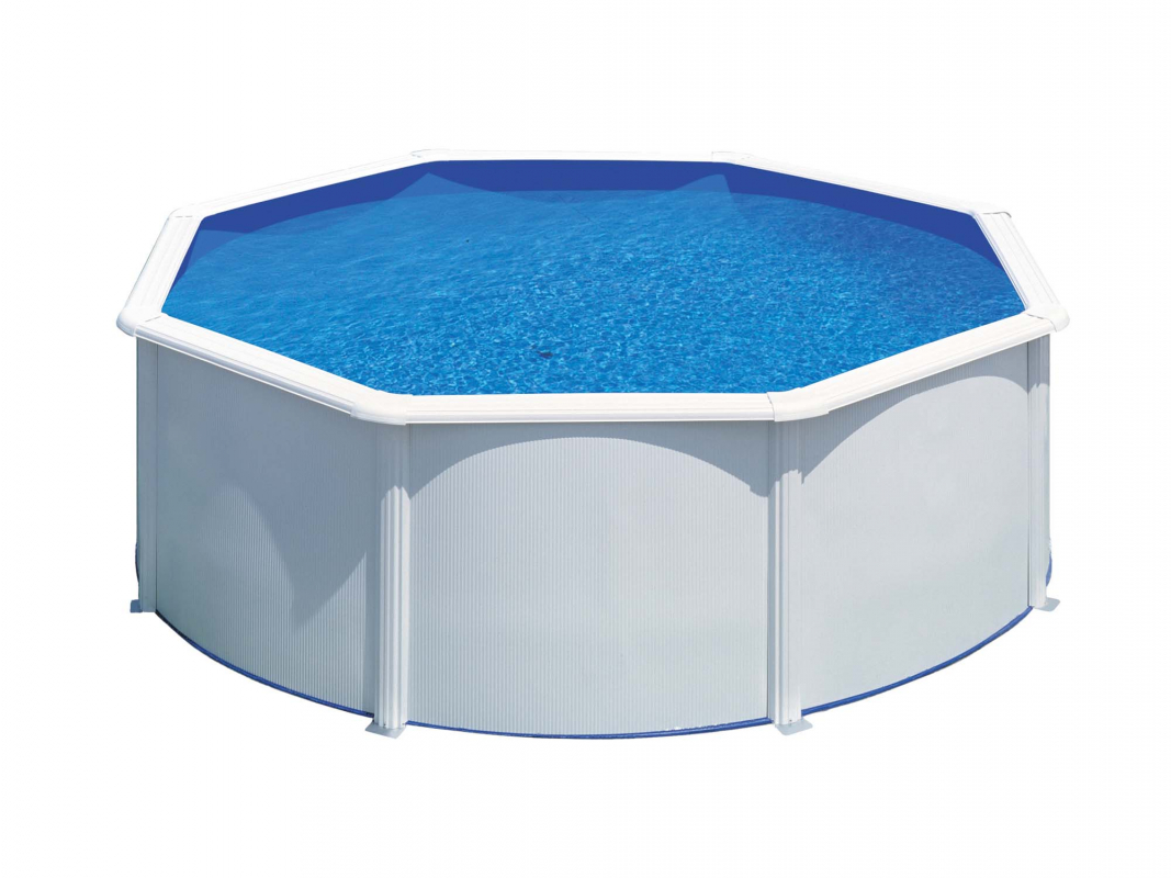 piscine acier ronde h 1 20 m blanche fidji. Black Bedroom Furniture Sets. Home Design Ideas