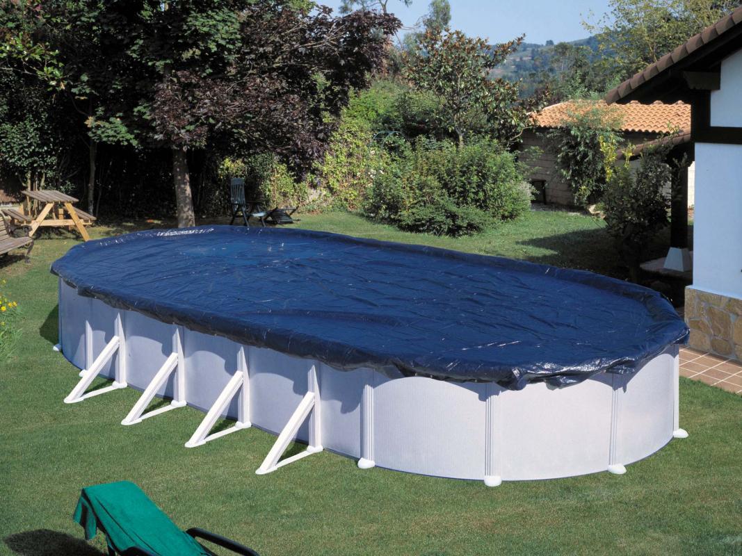 B che hiver pour piscine ovale for Baches pour piscine