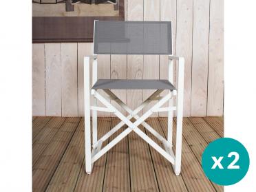Chaise DIRECTEUR taupe (lot de 2)
