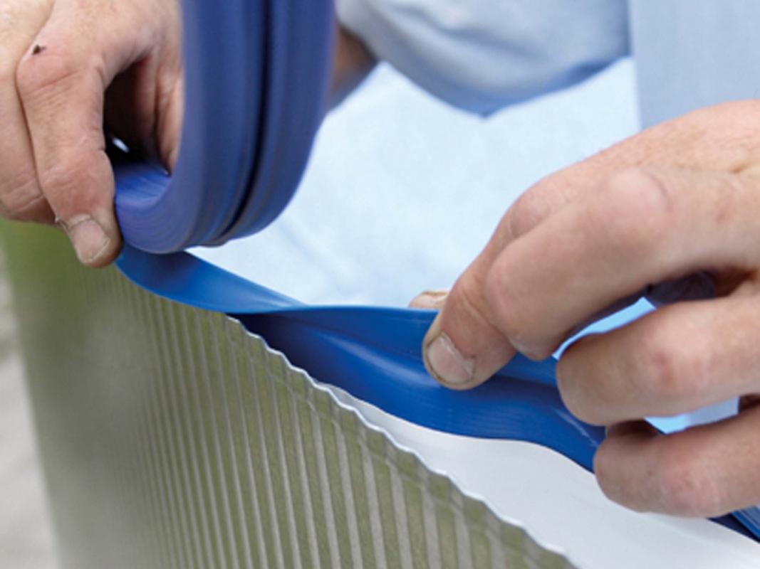 Liner pour piscine acier hors sol ronde h 1 20 m for Remplacement liner par resine piscine