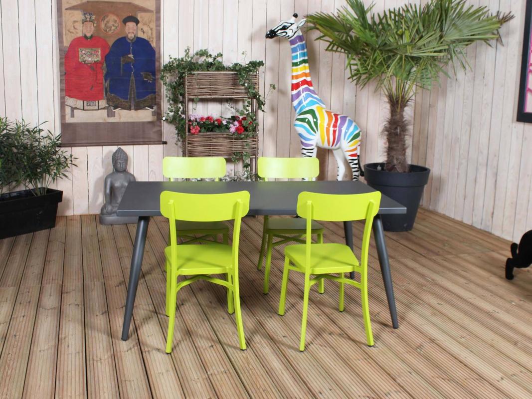 salon repas mica anthracite. Black Bedroom Furniture Sets. Home Design Ideas