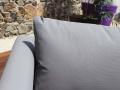 Coussins garnis de mousse Quick Dry Foam® (séchage rapide) et recouverts de Textilène® 1x1 coloris taupe