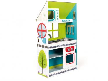 Grande cuisine maisonnette en bois pour enfant
