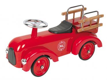 Petit bolide Camion de Pompier - porteur voiture en métal