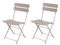 Lot de 2 chaises taupe