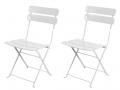 Lot de 2 chaises blanches