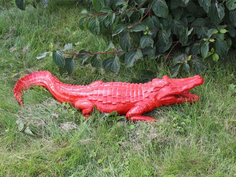 Animaux grandeur nature animaux en r sine crocodile en for Animaux decoration jardin resine