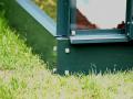 Base en acier galvanisé laqué vert H. 6 cm