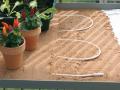 Câble devant être maintenu par du sable ou à l'aide de colliers plastiques