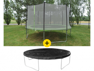 Lot trampoline Ø ,4,20 m + bâche de protection