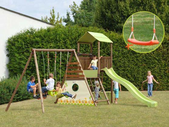 Aire de jeux bois Lombarde balançoire SOULET # Aire De Jeux En Bois D Occasion