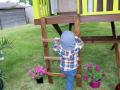 Accès à la maisonnette par une échelle