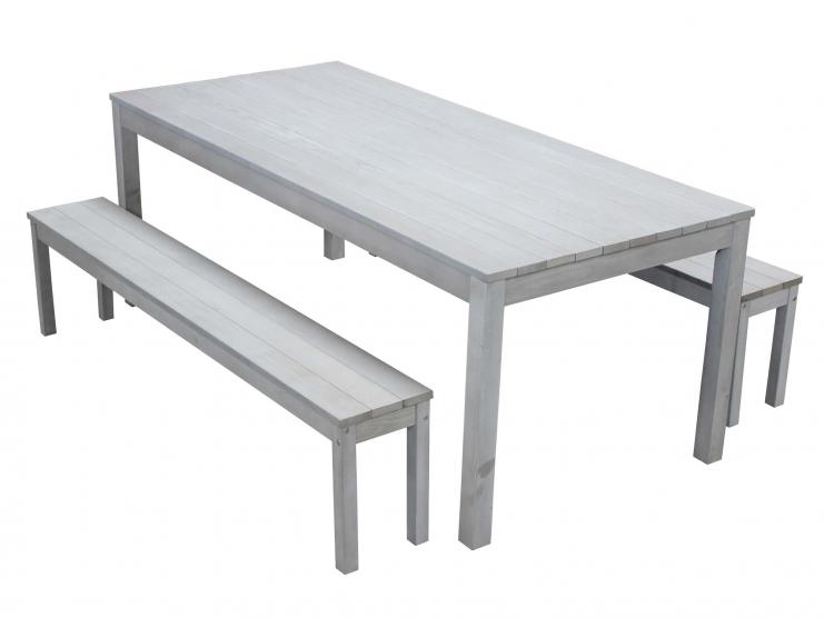 Ensemble repas table et bancs