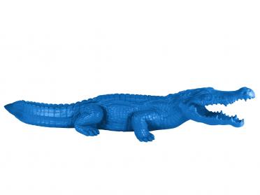 Crocodile bleu en résine