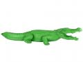 Crocodile vert en résine