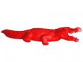 Crocodile rouge en résine