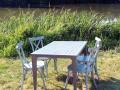 Table et chaises en aluminium