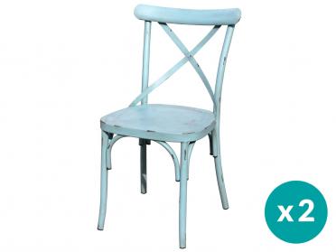 Chaise VINTAGE bleue (Par lot)