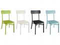 Chaises MICA en aluminium thermolaqué, plusieurs coloris
