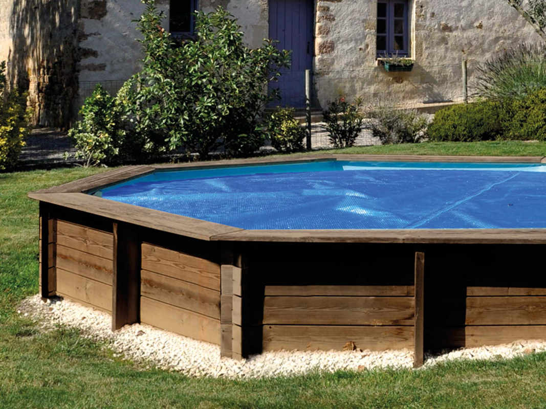 B che t 8 94 x 5 44 m pour piscine bois avila for Bache d ete piscine