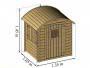 Dimensions : L. 1,35 m x P. 1,05 x H. 1,45 m