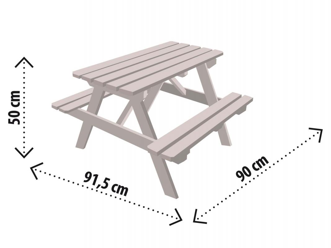table pique nique enfant soulet. Black Bedroom Furniture Sets. Home Design Ideas