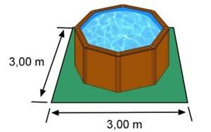 L'espace nécessaire au sol pour la piscine CERDENA est de 9 m2