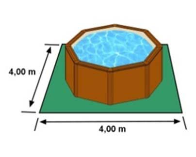L'espace nécessaire au sol pour la piscine SICILIA est de 16 m2