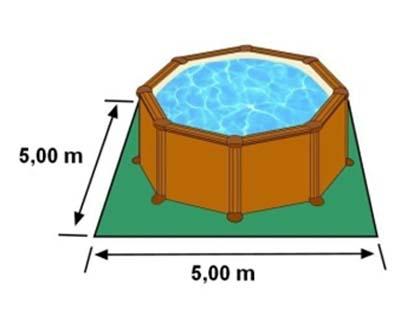 L'espace nécessaire au sol pour la piscine SICILIA est de 25 m2