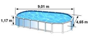Espace intérieur de nage
