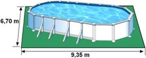 L'espace nécessaire au sol pour la piscine ATLANTIS est de 62,65 m2