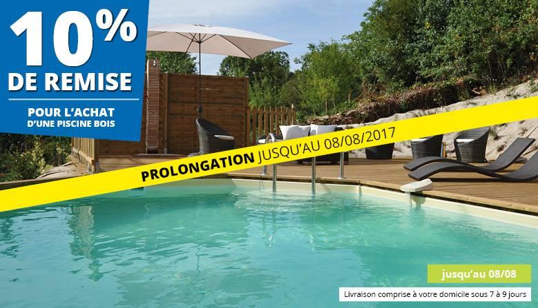 Remise 10% piscines bois