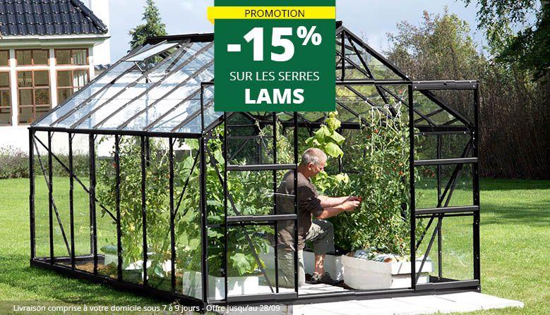 Remise de 15% sur les serres LAMS