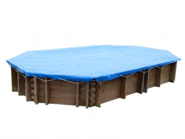 Bâche hiver pour piscine Zakapa 5 m x 3 m