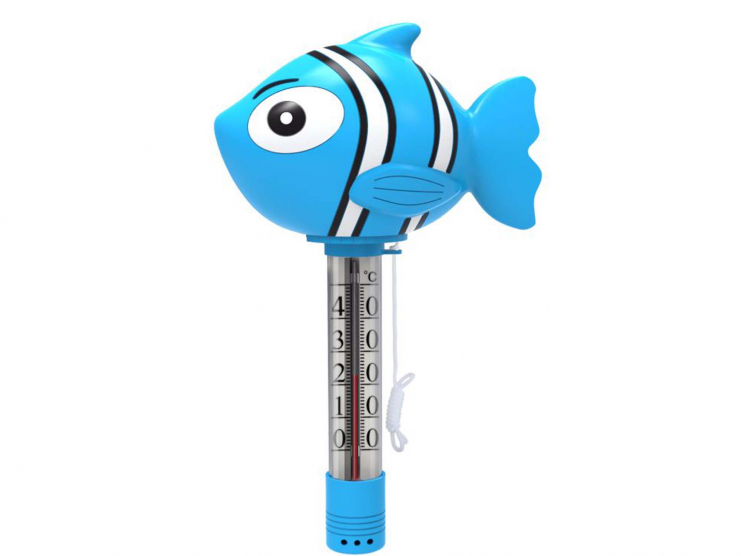 Thermomètre flottant poisson