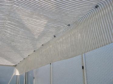 Toile avec bande alu - 2 bandes alu - Largeur 3.50 m - au mètre linéaire