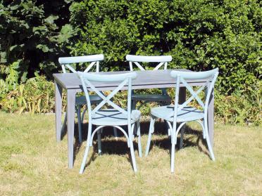 Salon de jardin VINTAGE table + chaises