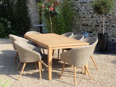 1 table + 8 fauteuils